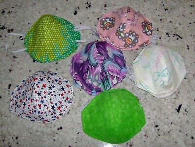 USA MADE-FACE MASKS Assorted Colors-washable, reusable-reversable FREE SHIPPING
