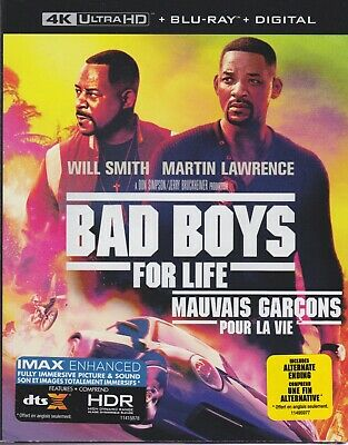 BAD BOYS FOR LIFE 4K ULTRA HD & BLURAY & DIGITAL SET with Will Smith & DJ Khaled