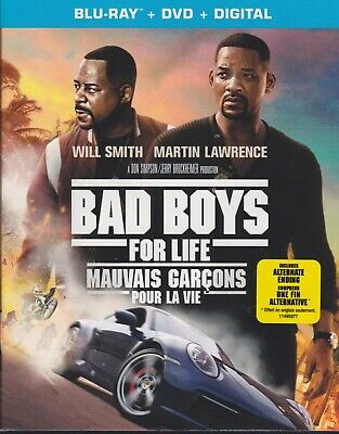 BAD BOYS FOR LIFE BLURAY & DVD & DIGITAL SET with Will Smith & Martin Lawrence