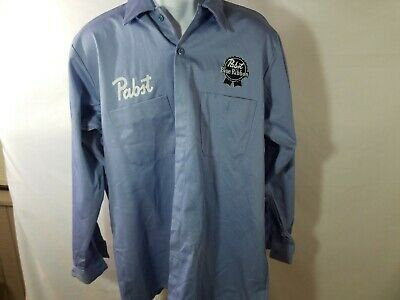 Large - Long/Tall Used Pabst Beer Work Shirt (107)