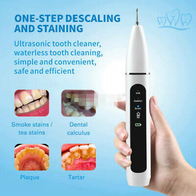UK Electric Sonic Dental Scaler Tartar Calculus Plaque Remover Tooth Stains Tool