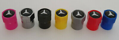 MERCEDES BENZ ABS Plastic Valve dust caps 7 colours Non Stick A C E CLASS AMG