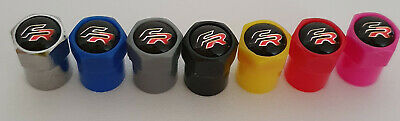 SEAT FR ABS Plastic Valve dust caps 7 colours Non Stick LEON ALL MODELS