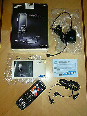 Samsung SGH-J700 Mobile Phone boxed charger leaflet headphones Tested VGC