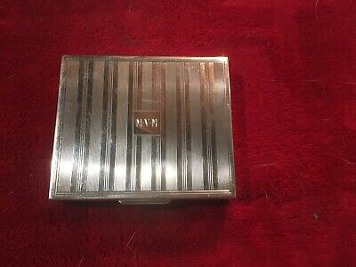 Vintage Tiffany And Co Sterling Silver Monogramed Cigarette Case