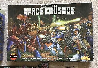 Games Workshop WH40k Advanced Space Crusade Tyranid Board Game RARE OOP Complete