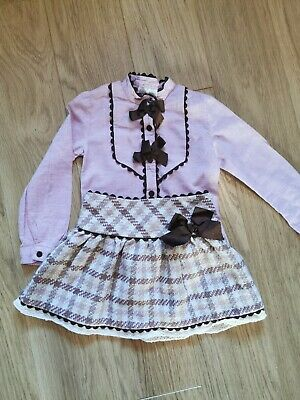 Girls Dolce Petit Designer Outfit Skirt And Blouse 5 Years