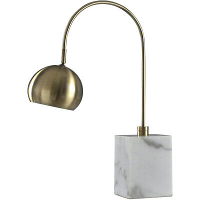 Harp and Finial HFL316906DS Woolsey Table Lamp Antique Brass and White