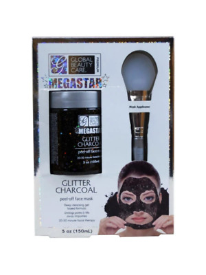 Megastar glitter peel-off mask with applicator (Available in a pack of 6)