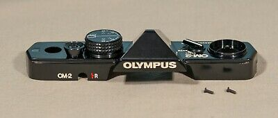 Olympus OM-2 Top Plate Assembly (Black Body) in Perfect Condition.