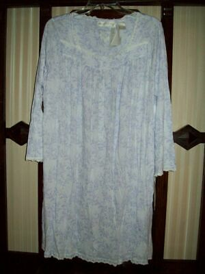 NWT EILEEN WEST KNIT SHORT GOWN Class TOUCH COTTON MODAL 532975 lilac FLORAL M