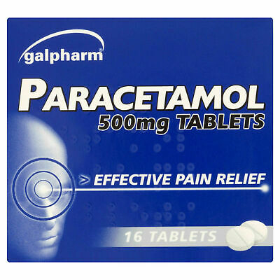 16 Galpharm Paracetamol 500mg Tablets - MAXIMUM ORDER QUANTITY '2'