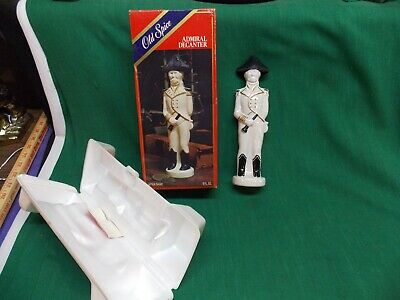 Vintage EMPTY Old Spice Admiral Decanter bottle with box.  Aftershave