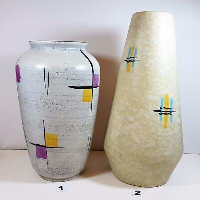 ## Mid-Century GERMAN POTTERY Vases BAY and SCHEURICH ##