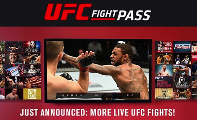 UFC Sports Fight Pass Premium Live Account Access Subscription | 2 Years