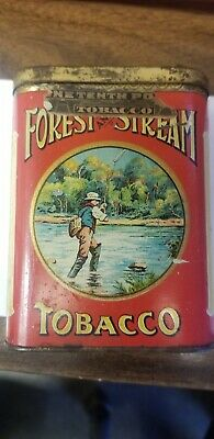 Forest And Stream Creel Top Pocket Tobacco Tin