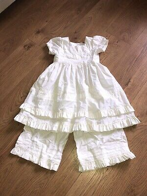 Georgeous Handmade Dress And Trouser Set Age 3-4