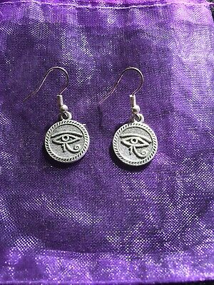 Dangle Drop Wicca Pagan Boho Chic Eye Of Horus Earrings