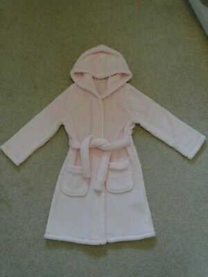 Girl's Super Soft Pink Dressing Gown from Marks and Spencer Age 5-6 Years