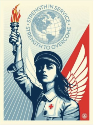 Obey Shepard Fairey Angel of Hope and Strength Signed Edition of 550 SEALED