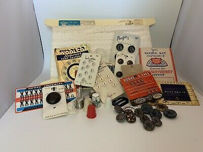 VINTAGE SEWING SUPPLIES/NOTIONS, Lace, Buttons, Etc.