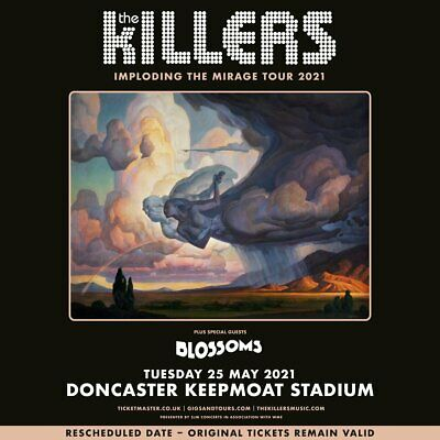 Killers Souvenir Fridge Magnet Imploding The Mirage Tour 2021 25 May Doncaster