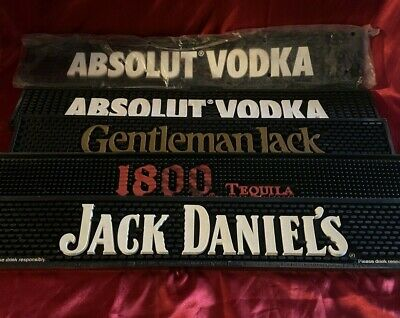 5 Bar Mats new & used 1800 Tequila Jack Daniel's & more