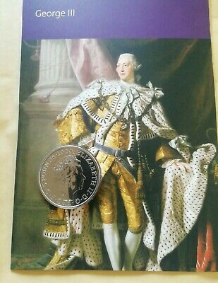 2020 Royal Mint King George III 200 Year Anniversary £5 Five Pound BU Coin. New.
