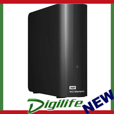 "Western Digital WD Elements Desktop 8TB USB 3.0 3.5"" External Hard Drive - Black"