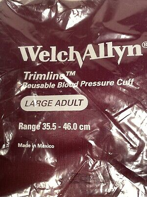 Welch Allyn Trimline Large Adult BP Cuff #1902CK, 2-tube, Brand New, OEM Pack