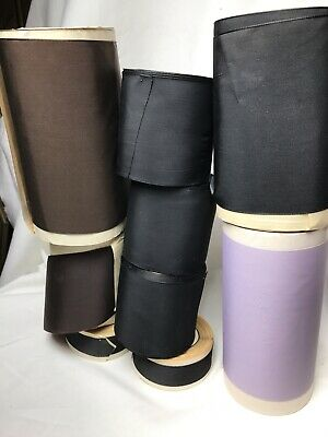 lot 9 Taffeta Rolls Vintage Brown Purple Black ribbon rayon dress Rayon Nylon