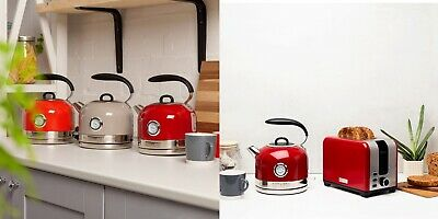 Haden Jersey Kitchen Kettle and Toaster - Red Putty or Marmalade Colour