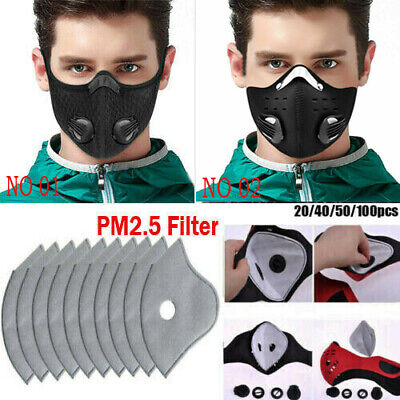 Outdoor Riding PM2.5 Haze Face Cover Air Purifying Mask Activated Carbon Filter
