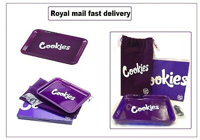 Cookies Glow Tray Smoking Accessories LED Rolling Glow Tray Cigarette TrayPurple