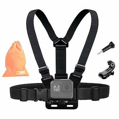 Kitway Chest Mount Harness, Adjustable Chest Strap Elastic Action Camera Body