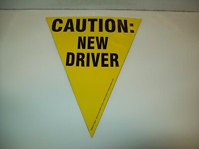 Triangle Magnetic Yellow Caution New Driver Sign...........NEW
