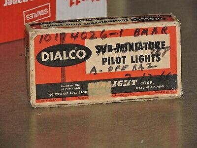 Dialco Pilot Panel Lights, New/Un-Used Total Of 42
