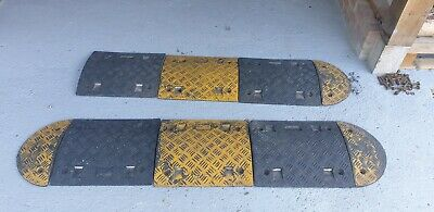 Heavy Duty rubber safety speed bump 2m-3.5m
