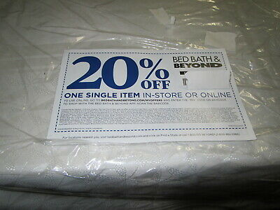 BED BATH & BEYOND 20% Off One Item Discount Coupon FAST DELIVERY Expires 7/06/20