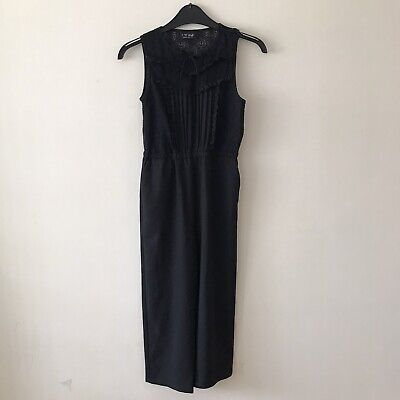 NEXT - Girls Lovely Black Smart Jumpsuit, Age 8 Years - Good Condition