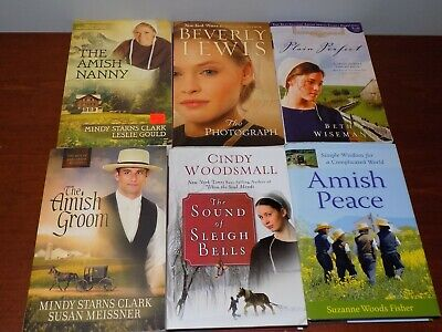 Lot of 6 Amish Fiction/NF books by various authors PB/HB