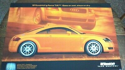 Original Bf Goodrich Poster Sign Orange Audi Coupe