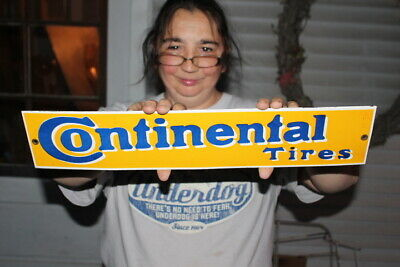 Continental Tires Gas Oil Porcelain Metal Sign