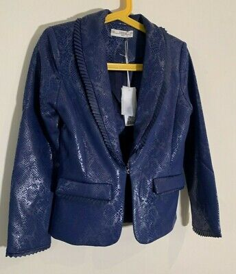 RRP £82 * SuperTrash * Girls Designer Jacket Blazer * Blue * Age 8