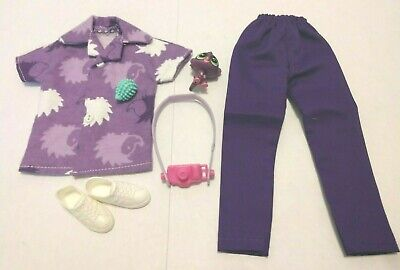 OOAK MADE FOR KEN DOLL UGLY CHRISTMAS TREE SWEATER /& BLACK PANTS CLOTHES