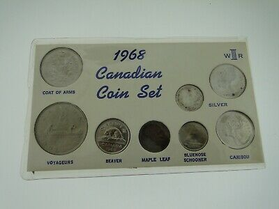 1968 Canadian Silver Coin Set - 8 Coins