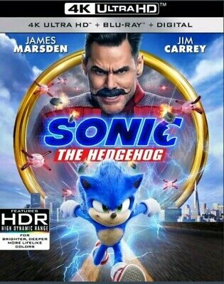 Sonic the Hedgehog Movie (4K Ultra HD Blu-ray + Slipcover) 1-Disc Set Jim Carrey