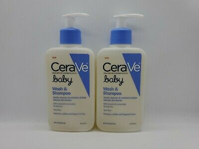 Lot of 2 CeraVe Baby Wash - Shampoo, 8 oz