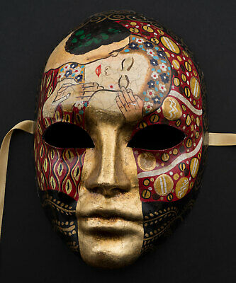 Mask from Venice Volto Face IN Paper Chewed- Spirit Klimt Collection 1767