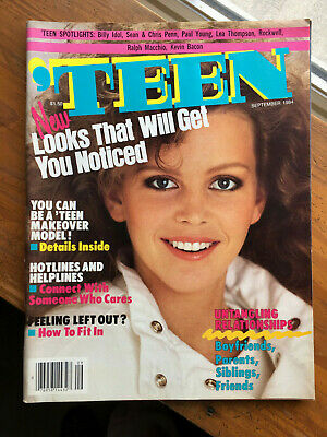 Vintage 'TEEN September 1984 issue - youthful Fashion & Beauty